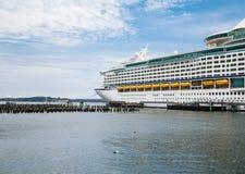 Cruise Ship in Portland Stock Image