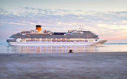 Cruise ship, Portugal Royalty Free Stock Photography