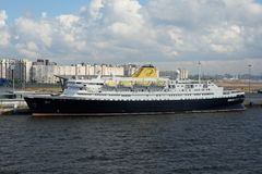 Cruise Ship Portuscale Azores in St Petersburg Stock Images