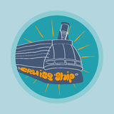 Cruise ship poster Royalty Free Stock Photo