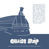 Cruise ship poster Royalty Free Stock Images