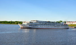 Cruise ship `Princess Victoria` on the Volga. Uglich, Russia Royalty Free Stock Images