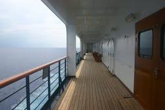 Cruise ship promenade. At sea royalty free stock image