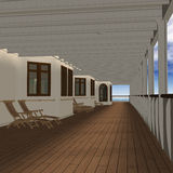 Cruise Ship Promenade Deck Stock Images