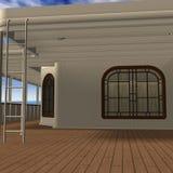 Cruise Ship Promenade Deck Royalty Free Stock Photo