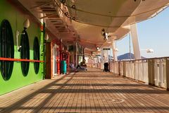 Cruise Ship Promenade Deck Royalty Free Stock Photography
