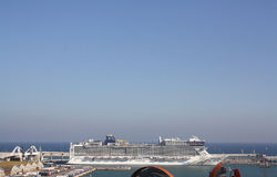 Cruise Ship Puerto de Barcelona, Spain Royalty Free Stock Photo