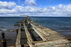 CRUISE SHIP PUNTA ARENAS CHILE Royalty Free Stock Photo
