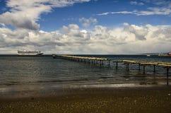 CRUISE SHIP PUNTA ARENAS CHILE Royalty Free Stock Photos