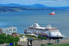 Cruise Ship in Quebec City Stock Photography