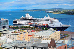 Cruise ship in Quebec City Stock Image