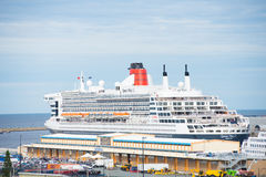 Cruise ship Queen Mary II in Fremantle Western Australia Royalty Free Stock Images