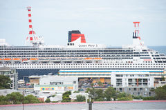 Cruise ship Queen Mary II in Fremantle Western Australia Stock Photo