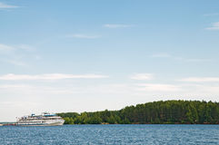 Cruise Ship on the River. Volga, Russia royalty free stock photo