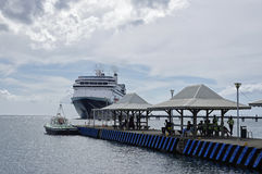Cruise ship Rotterdam docked in the port of Fort-de-France in Martinique. Rotterdam Royalty Free Stock Photos