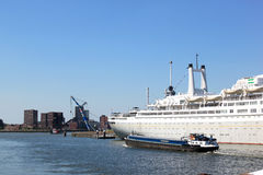 Cruise Ship Rotterdam in dutch harbor Rotterdam Stock Photo