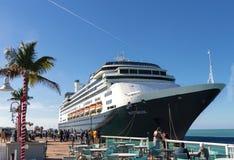 Cruise Ship Rotterdam at Key West, Florida, USA stock image