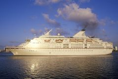 The cruise ship Royal Majesty, in the harbor of Miami, Florida Stock Photos