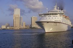 The cruise ship Royal Majesty, in the harbor of Miami, Florida Stock Images