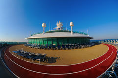 Cruise Ship Running Track. Running Track on the top deck of a Cruise Ship Royalty Free Stock Photo