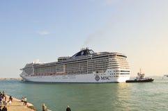 Cruise ship in S. Mark's basin, Venice Stock Photography