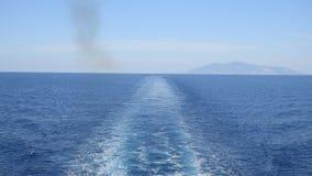 Cruise ship`s wake