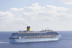 Cruise ship sailing Royalty Free Stock Images