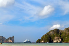 Cruise Ship Sailing island in Thailand Stock Images