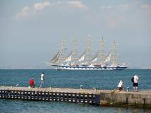 Cruise ship sailing. Royalty Free Stock Image