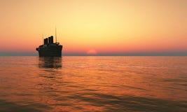 Cruise ship royalty free illustration