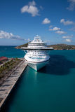 Cruise Ship in Saint Thomas Bay Stock Images