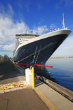 Cruise ship in San Diego harbor Stock Photo