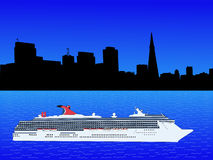 Cruise ship at San Francisco Royalty Free Stock Image
