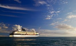 Cruise Ship at Sea. Hawaiian cruise ship at sea Royalty Free Stock Images