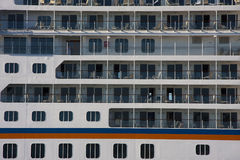 Cruise ship by sea Royalty Free Stock Photos