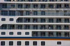 Cruise ship by sea Royalty Free Stock Photos