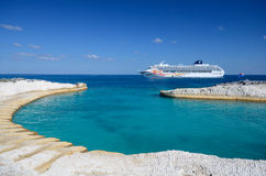 Cruise Ship in the Sea Stock Image