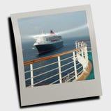 Cruise ship at sea royalty free stock photo