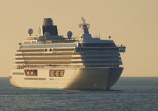 Cruise ship. On the sea Royalty Free Stock Images