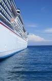 Cruise ship at sea. Cruise ship on a bright sunny day at sea Stock Image