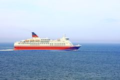 Cruise ship on sea Royalty Free Stock Photo