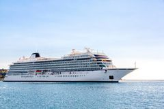 Cruise ship in the sea Stock Photography