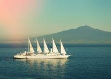 Cruise ship in  sea Royalty Free Stock Photos