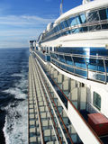 Cruise ship at sea Royalty Free Stock Images