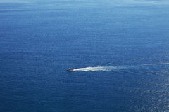 Cruise ship on the sea. Liguria, Northern Italy. Royalty Free Stock Photography