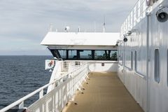 Cruise ship on the sea between norway and sweden Stock Image
