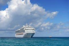 Cruise Ship at Sea. Passenger cruise ship at sea during sunny day Royalty Free Stock Photos