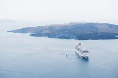 Cruise ship in the sea. Stock Photos