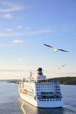 Cruise ship in the sea Stock Photo