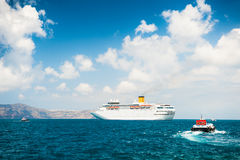 Cruise ship at sea. Stock Images